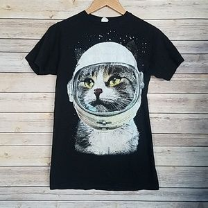 Tops - Astronaut Space Kitty Cat T-Shirt